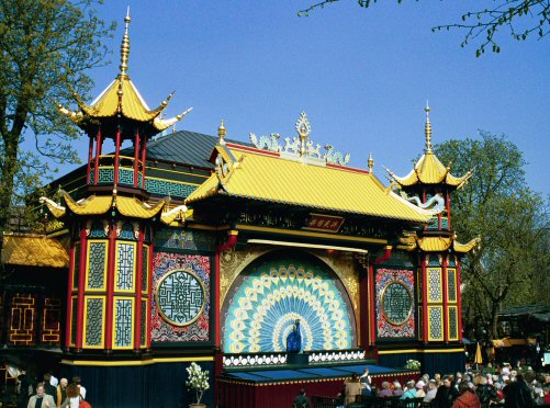 The Pantomime Theatre in the Tivoli Gardens, Copenhagen