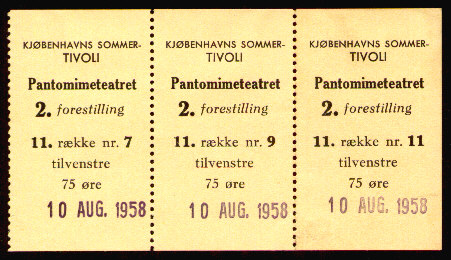 The Pantomime Theatre: Tickets from 1958
